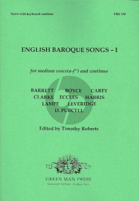 English Baroque Songs Vol. I (Ten English songs) Medium Voice