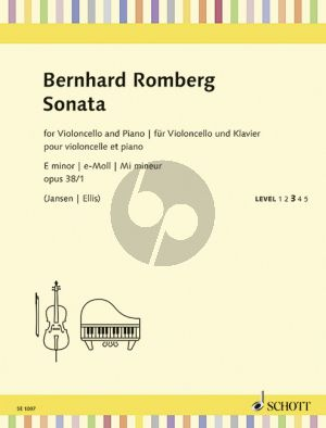 Romberg Sonata e-minor Op.38 No.1 Violoncello-Piano