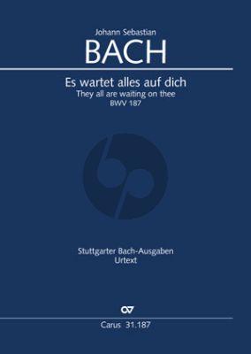 Bach Kantate BWV 187 Es wartet alles auf dich Soli-Chor-Orch. Klavierauszug (ed. Frieder Rempp)
