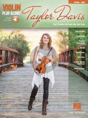 Taylor Davis 8 Favorites (Violin Play-Along Series Vol.65)
