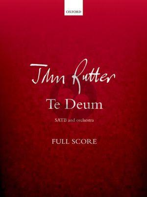 Rutter Te Deum SATB-Orchestra Study Score