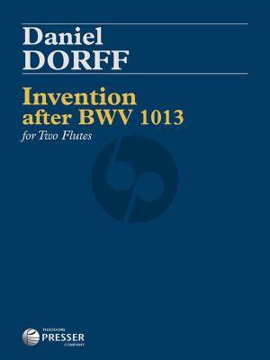 Dorff Invention after BWV 1013 2 Flutes