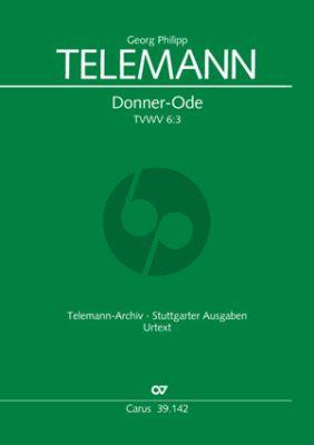 Telemann Donner-Ode TVWV 6:3 Soli-Chor-Orchester Partitur (ed. Silja Reidemeister)