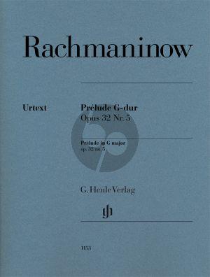 Rachmaninoff Prélude G-dur Op.32 No.5 Klavier (Dominik Rahmer) (Fingersatz Marc-André Hamelin) (Henle-Urtext)