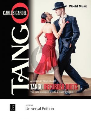Gardel Tango Recorder Duets for 2 Recorders (AA or AT) ) (Playing Score) (arr. Diego Collatti)