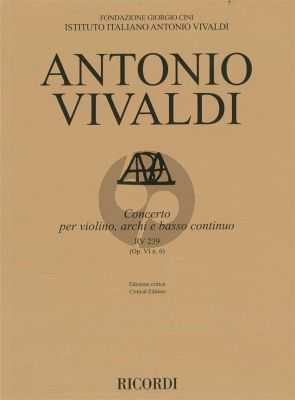 Vivaldi Concerto d-minor RV 239 (Op.VI/6) Violin-Strings-Bc. (edited by Alessandro Borin)