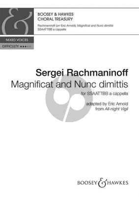 Rachmaninoff Magnificat und Nunc Dimittis (adapted from All Night Vigil (Vespers) SSAATTBB a cappella (edited by Eric Arnold)