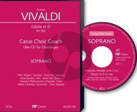 Vivaldi Gloria RV 589 D-dur (Soli [SSA]-SATB-Orch.) Sopran Chorstimme CD (Carus Choir Coach)
