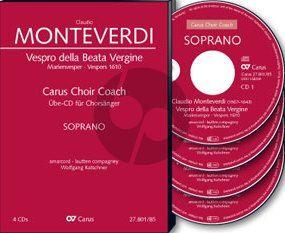 Monteverdi Vespro della Beata Vergine (Marienvespers 1610) (Soli-Choir-Orch.) Tenor Chorstimme 4 CD's