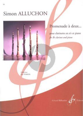 Alluchon Promenade à deux... Clarinet[Bb]-Piano (easy level) (grade 3)