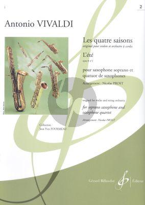 Vivaldi Les quatre saisons - L'Été Op.8 No.2 Soprano Saxophone and Saxophone Quartet