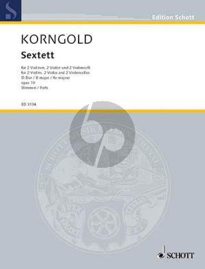 Korngold Sextet Op.10 D-major 2 Vi.-2 Va.-2 Vc. (Parts)