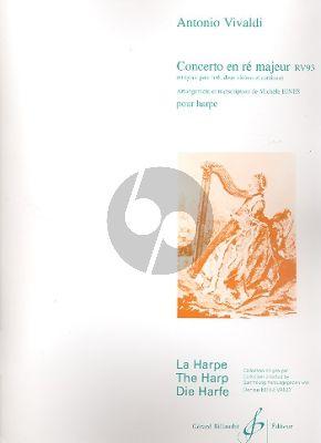 Vivaldi Concerto D-majeur RV 93 Harpe (transcr. Michelle Ejnes)