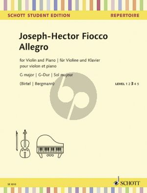 Fiocco Allegro G-major Violin-Piano (edited by Wolfgang Birtel and Norman O'Neill)