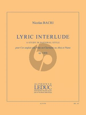 Bacri Lyric Interlude Op.110b Cor Anglais (or Flute/Clarinet/Viola) and Piano