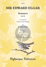 Elgar Romance Op.62 Bassoon-Strings (Score/Parts) (transcr. by Martin Gatt)