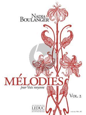 Boulanger Melodies Vol.2 (Voix Moyenne)