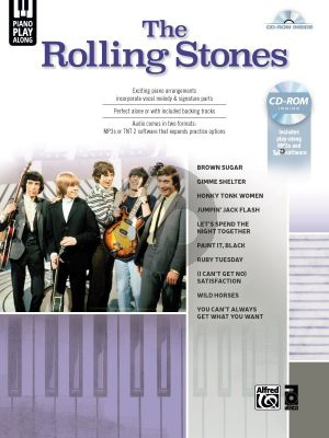The Rolling Stones Piano Play-Along Piano-Vocal-Chords (Bk-Cd)