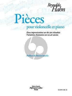 Hahn Pièces pour Violoncelle-Piano