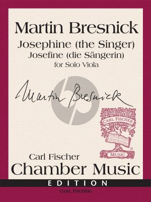 Bresnick Josephine (the Singer) Viola solo (edited by Anne Lanzilotti)