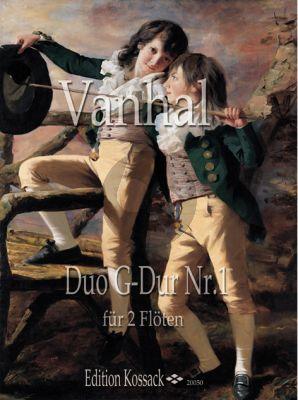 Vanhal Duo No.1 G-dur 2 Flöten (Part./Stimmen)