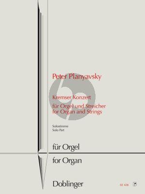 Planyavsky Kremser Konzert Orgel Solostimme