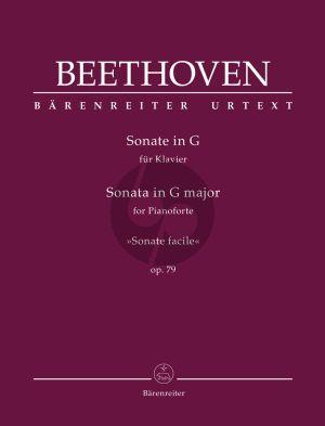 """Beethoven Sonata G-major Op.79 """"Sonate facile"""" Piano solo"""