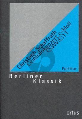 Schaffrath Konzert c-Moll CSWV:C:11 Cembalo-Streicher-Bc Partitur