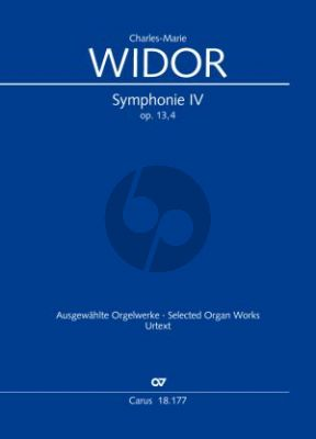 Widor Symphonie No.4 Op.13 Orgel (ed. Georg Koch)