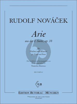 Novacek Arie aus Suite No.1 Op.10 Violine-Klavier (ed. Tomislav Butorac)