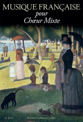 Musique Française pour Choeur Mixte SATB-Piano