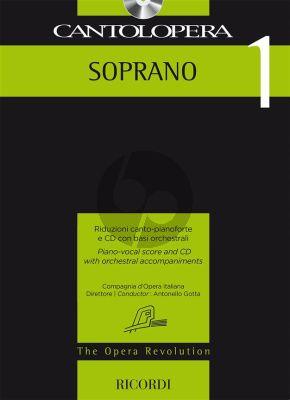 Cantolopera 1: Soprano Voice-Piano (Bk-Cd)