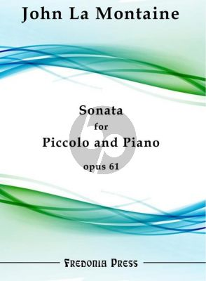 La Montaine Sonata Op.61 for Piccolo and Piano