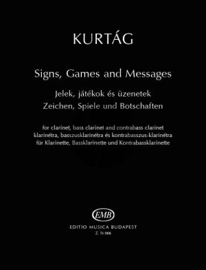 Signs-Games and Messages for Clarinet in Bb-Bass Clarinet and Contrabass Clarinet