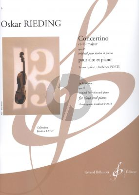 Rieding Concertino G-major Op.25 Viola-Piano (original for Violin) (transcr. by Frederick Forti)