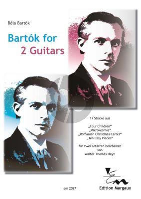 Bartók for 2 Guitars (arr. by Walter Thomas Heyn) (2 perfomance scores)