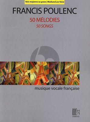 Poulenc 50 Mélodies Medium/Low Voice-Piano