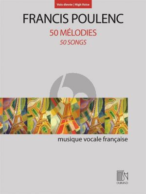 Poulenc 50 Mélodies High Voice-Piano