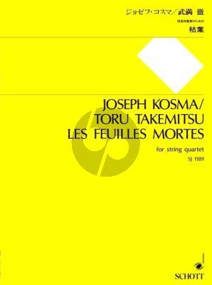 Kosma Les Feuilles mortes 2 Vi.-Va.-Vc. (Score/Parts) (transcr. by Toru Takemitsu)