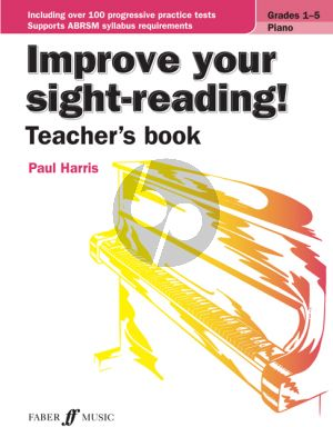 Harris Improve your sight-reading! Teacher's Book (Piano Grades 1-5) (Bk-Cd)