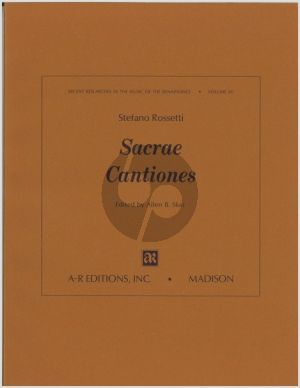 Rossetti Sacrae Cantiones 5 Voices (edited by Allen B. Skei)