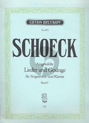 Schoeck Ausgewählte Lieder und Gesänge Vol.1 Tiefe Stimme-Klavier (dt./engl.)