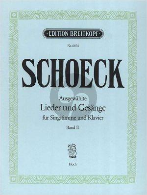 Schoeck Ausgewählte Lieder und Gesänge Vol.2 Hohestimme-Klavier (dt./engl./franz.)