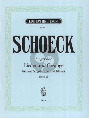Schoeck Ausgewählte Lieder und Gesänge Vol.3 Hohel Stimme-Klavier (dt./engl./franz.)