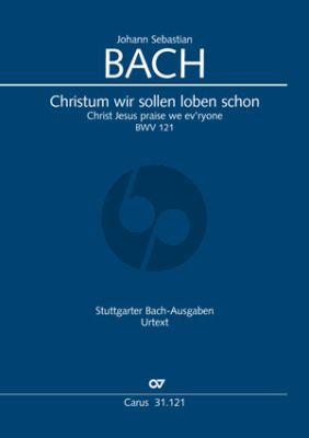 Bach Kantate BWV 121 Christum wir sollen loben schon Soli-Chor-Orch. Klavierauszug (dt.) (ed. Frieder Rempt)