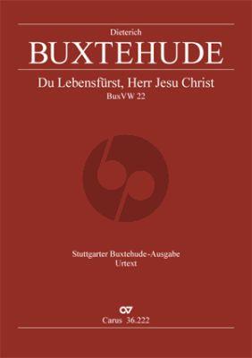 Buxtehude Du Lebensfürst, Herr Jesu Christ Himmelfahrts BuxWV 22 SATB solo-SATB-2 Vi.-2 Va.-Bc Partitur (ed. Violetta Brehm)