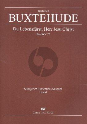 Buxtehude Du Lebensfürst, Herr Jesu Christ Himmelfahrts BuxWV 22 SATB soli-SATB-2 Vi.-2 Va.-Bc Klavierauszug (ed. Violetta Brehm)