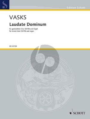 Vasks Laudate Dominum for SATB and Organ