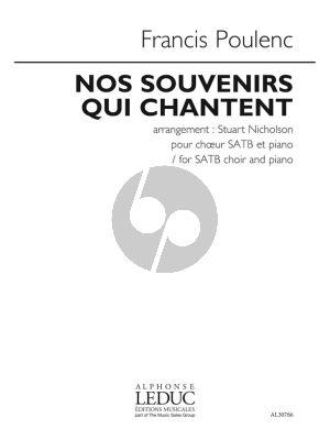 Poulenc Nos Souvenirs Qui Chantent SATB-Piano (arr. Stuart Nicholson)