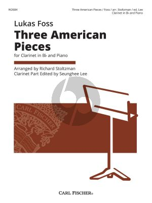 Foss Three American Pieces for Clarinet[Bb] and Piano